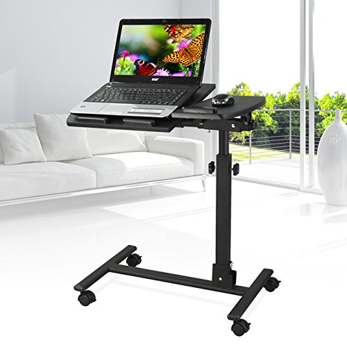 yahee laptoptisch laptop notebook netbook tisch auf rollen verstellbar. Black Bedroom Furniture Sets. Home Design Ideas